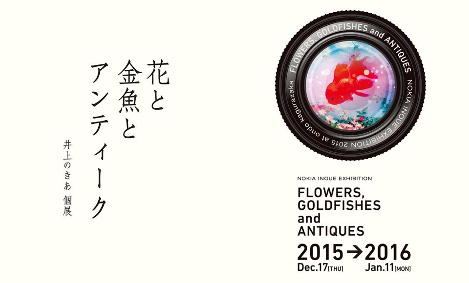 花と金魚とアンティーク|井上のきあ|2015 12/17【thu】〜1/11【mon】
