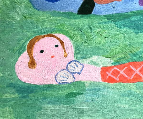作品「バブの海」