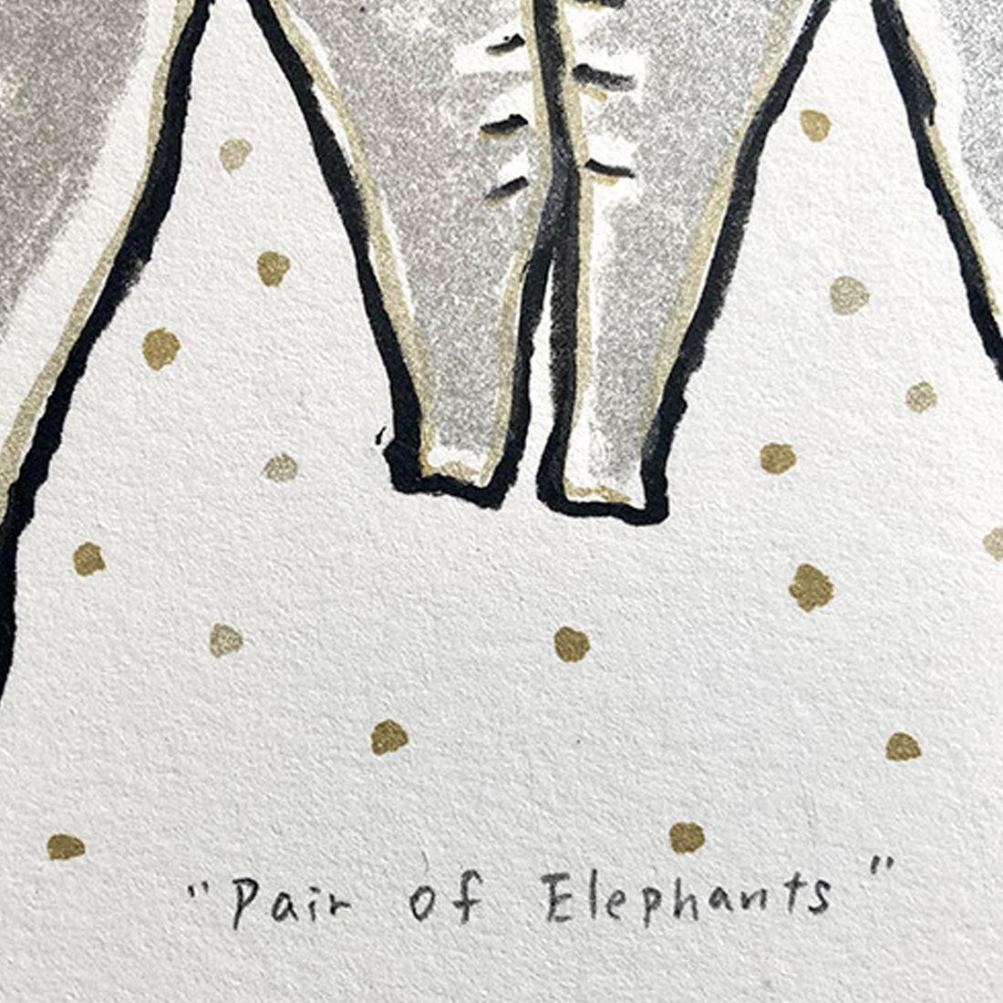 作品「Pair of Elephants」
