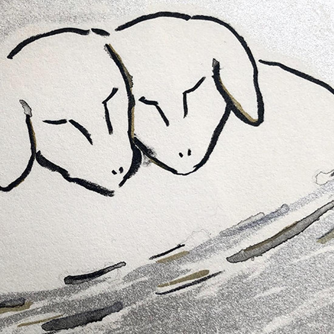 作品「Sheep in water」