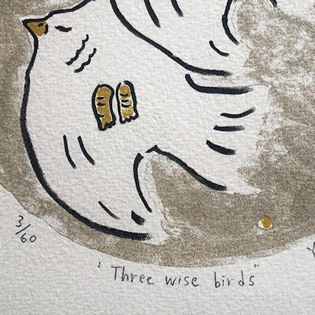作品「Three wise birds」