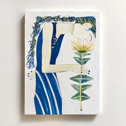 作品「花を飾る」