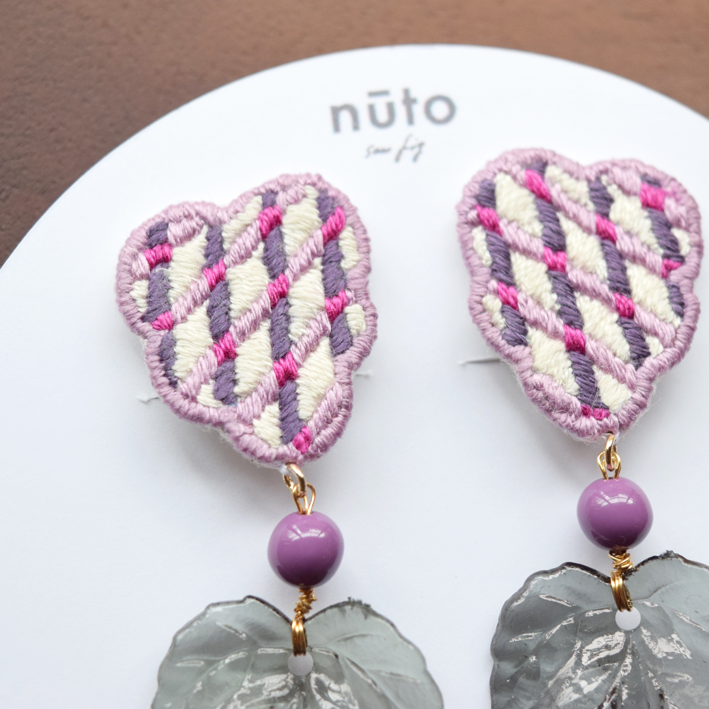 cross grape earring