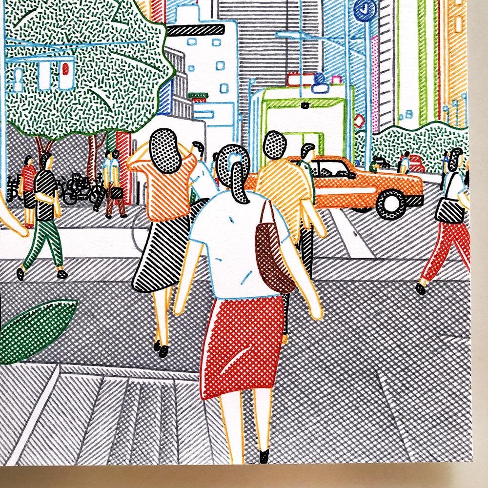 作品「町の人たち」