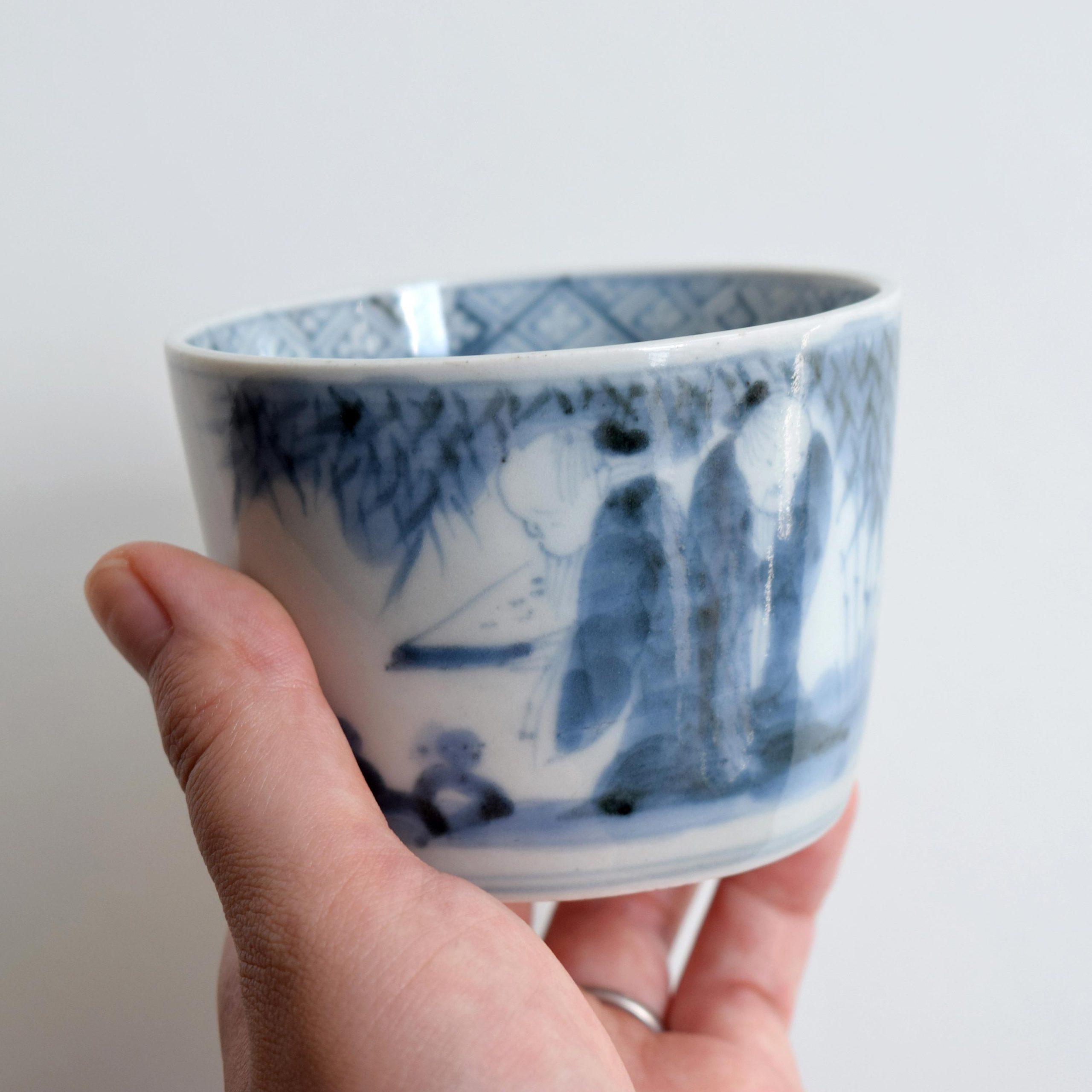 竹林七賢図 蕎麦猪口