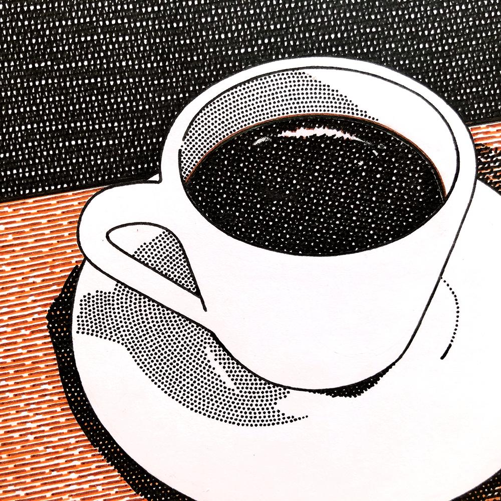 作品「コーヒーの一杯」