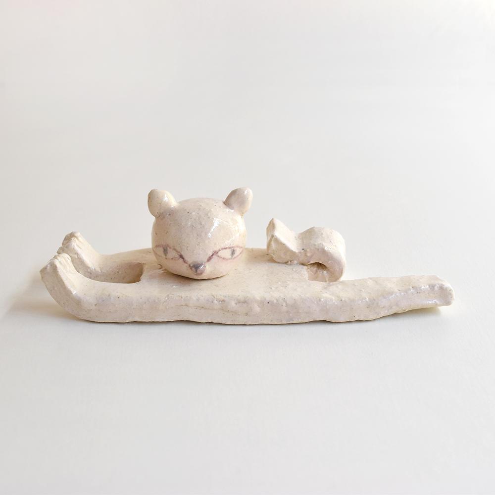 作品「猫のスプーンとフォーク置き」