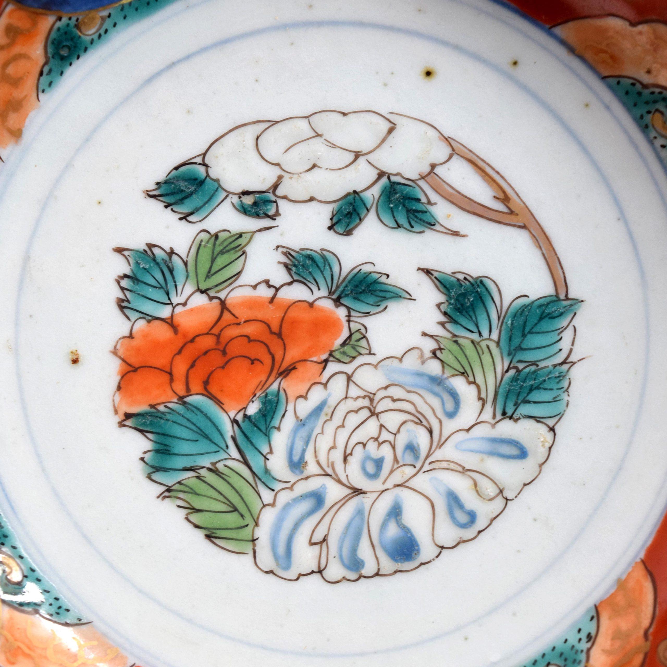 巻物牡丹文 五寸皿